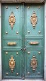 Λεπτομέρειες της ξύλινης πόρτας Στοκ εικόνες με δικαίωμα ελεύθερης χρήσης