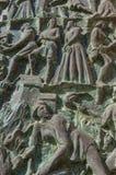 Λεπτομέρειες της χαρασμένης πόρτας Άγιου Βασίλη του καθεδρικού ναού Myra στο αριθ. Στοκ Φωτογραφία