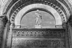Λεπτομέρειες του βαπτιστηρίου του SAN Giovanni Ιταλία Πίζα Στοκ Εικόνες