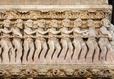 Λεπτομέρειες του καθεδρικού ναού δυτικού πύύ Αγίου Trophime σε Arles, Γαλλία Bouches-du-Ροδανός Στοκ Εικόνα