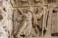 Λεπτομέρειες του καθεδρικού ναού δυτικού πύύ Αγίου Trophime σε Arles, Γαλλία Bouches-du-Ροδανός Στοκ φωτογραφίες με δικαίωμα ελεύθερης χρήσης