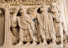 Λεπτομέρειες του καθεδρικού ναού δυτικού πύύ Αγίου Trophime σε Arles, Γαλλία Bouches-du-Ροδανός Στοκ Εικόνες