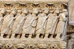 Λεπτομέρειες του καθεδρικού ναού δυτικού πύύ Αγίου Trophime σε Arles, Γαλλία Bouches-du-Ροδανός, Στοκ φωτογραφίες με δικαίωμα ελεύθερης χρήσης