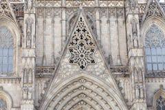 Λεπτομέρειες του καθεδρικού ναού της Βαρκελώνης στο γοτθικό τέταρτο, Ισπανία στοκ φωτογραφίες