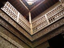 Λεπτομέρειες του μαροκινού εσωτερικού σχεδίου ύφους Στοκ Εικόνες