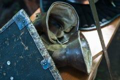 Λεπτομέρειες του μεσαιωνικού εξοπλισμού ιπποτών Στοκ εικόνα με δικαίωμα ελεύθερης χρήσης