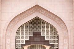 Λεπτομέρειες του μουσουλμανικού τεμένους Putra (Masjid Putra) σε Putrajaya Μαλαισία Στοκ φωτογραφία με δικαίωμα ελεύθερης χρήσης