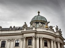 Λεπτομέρειες του παλατιού Hofburg στο κέντρο πόλεων της Βιέννης στοκ εικόνες