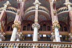 Λεπτομέρειες του Παλάου de Λα Musica Catalana, υπαίθριες, Βαρκελώνη, Ισπανία στοκ εικόνες με δικαίωμα ελεύθερης χρήσης