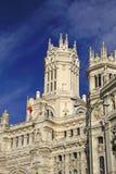 Λεπτομέρειες του παλατιού Telecomunications - Μαδρίτη Δημαρχείο στην πλατεία Cibeles Μαδρίτη Ισπανία Στοκ εικόνα με δικαίωμα ελεύθερης χρήσης
