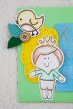 Λεπτομέρειες του πρίγκηπα στο χαρτόνι στοκ εικόνα