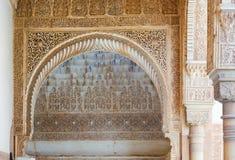 Λεπτομέρειες του προαυλίου Myrtles Alhambra Στοκ Φωτογραφίες