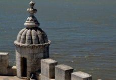 Λεπτομέρειες του πύργου του Βηθλεέμ, Πορτογαλία Στοκ Εικόνες
