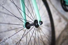 Λεπτομέρειες του σταθερού ποδηλάτου Στοκ φωτογραφίες με δικαίωμα ελεύθερης χρήσης