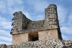 Λεπτομέρειες του των Μάγια ύφους αρχιτεκτονικής Puuc - Uxmal, Μεξικό Στοκ εικόνες με δικαίωμα ελεύθερης χρήσης