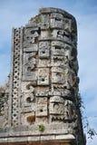 Λεπτομέρειες του των Μάγια ύφους αρχιτεκτονικής Puuc - Uxmal, Μεξικό Στοκ Εικόνες