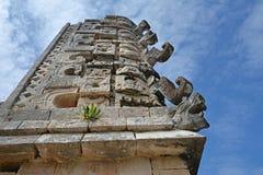 Λεπτομέρειες του των Μάγια ύφους αρχιτεκτονικής Puuc - Uxmal, Μεξικό Στοκ φωτογραφίες με δικαίωμα ελεύθερης χρήσης