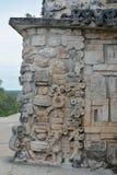 Λεπτομέρειες του των Μάγια ύφους αρχιτεκτονικής Puuc - Uxmal, Μεξικό Στοκ Φωτογραφία