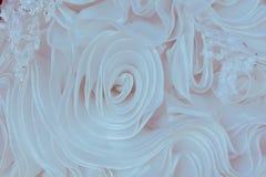 Λεπτομέρειες του υφάσματος φορεμάτων νυφών και του όμορφου weddi κεντητικής Στοκ Εικόνες