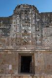 Λεπτομέρειες του maya puuc ύφους αρχιτεκτονικής στις καταστροφές uxmal, Μεξικό Στοκ φωτογραφίες με δικαίωμα ελεύθερης χρήσης