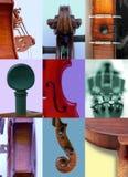 Λεπτομέρειες των βιολιών Στοκ φωτογραφίες με δικαίωμα ελεύθερης χρήσης