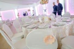 Λεπτομέρειες των γαμήλιων διακοσμήσεων Στοκ εικόνες με δικαίωμα ελεύθερης χρήσης