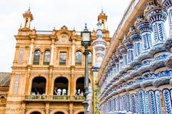 Λεπτομέρειες των διακοσμήσεων plaza de espana στη Σεβίλη Στοκ Φωτογραφία