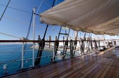 Λεπτομέρειες των ξαρτιών sailboat Στοκ Φωτογραφία