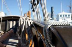 Λεπτομέρειες των ξαρτιών sailboat Στοκ εικόνες με δικαίωμα ελεύθερης χρήσης