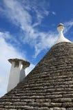Λεπτομέρειες Alberobello των σπιτιών trulli Στοκ Φωτογραφία