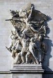 Λεπτομέρειες Arc de Triomphe στο Παρίσι, Γαλλία, Ευρώπη Στοκ εικόνα με δικαίωμα ελεύθερης χρήσης