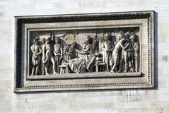 Λεπτομέρειες Arc de Triomphe στο Παρίσι, Γαλλία, Ευρώπη Στοκ Εικόνα
