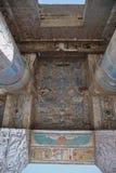 Λεπτομέρειες bas-ανακούφισης του ναού Medinet Habu, Αίγυπτος Στοκ εικόνα με δικαίωμα ελεύθερης χρήσης