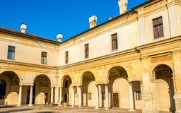 Λεπτομέρειες Palazzo Ducale στην πλατεία Castello σε Mantua Στοκ Εικόνες