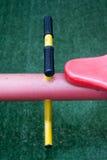 Λεπτομέρειες seesaw, kid's υπαίθριος εξοπλισμός παιχνιδιού Στοκ φωτογραφία με δικαίωμα ελεύθερης χρήσης