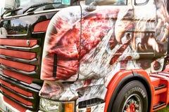 Λεπτομερές έργο τέχνης του αετού στο φορτηγό Στοκ Φωτογραφίες