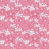 λεπτομερές ανασκόπηση floral διάνυσμα σχεδίων Άνευ ραφής σχέδιο με τη μέλισσα και λουλούδι στο doodl Στοκ Φωτογραφία