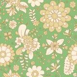 λεπτομερές ανασκόπηση floral διάνυσμα σχεδίων βοτανική τυπωμένη ύλη οι ανθοδέσμες υποκύπτουν άνευ ραφής μικρό προτύπων λουλουδιών Στοκ Εικόνα