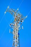 Λεπτομερές ηλεκτροφόρο καλώδιο υψηλής τάσης Στοκ φωτογραφίες με δικαίωμα ελεύθερης χρήσης