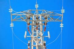 Λεπτομερές ηλεκτροφόρο καλώδιο υψηλής τάσης Στοκ φωτογραφία με δικαίωμα ελεύθερης χρήσης