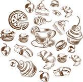 Λεπτομερές σκίτσο τροφίμων Στοκ φωτογραφία με δικαίωμα ελεύθερης χρήσης
