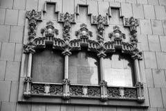 Λεπτομερές Architecural παράθυρο στη Βαρκελώνη Στοκ Φωτογραφίες
