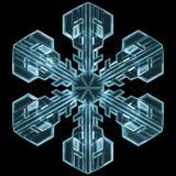 Λεπτομερές Snowflake Στοκ Φωτογραφία