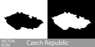 Λεπτομερής Δημοκρατία της Τσεχίας χάρτης ελεύθερη απεικόνιση δικαιώματος