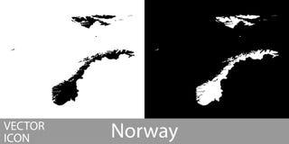 Λεπτομερής η Νορβηγία χάρτης διανυσματική απεικόνιση