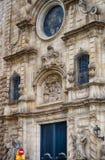 Λεπτομερής πρόσοψη της εκκλησίας Mare de Deu Betlem στη Βαρκελώνη, Ισπανία Στοκ Εικόνες