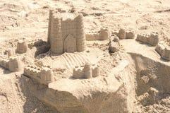 Λεπτομερής φωτογραφία ενός sandcastle Στοκ φωτογραφία με δικαίωμα ελεύθερης χρήσης