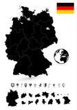 Λεπτομερής χάρτης της Βραζιλίας και του επίπεδου συνόλου ναυσιπλοΐας Στοκ φωτογραφίες με δικαίωμα ελεύθερης χρήσης