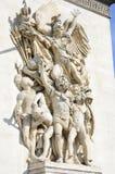 Λεπτομερής Carvings Arc de Triomphe Στοκ Εικόνα