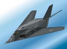 Λεπτομερής Isometric απεικόνιση ενός μαχητή μυστικότητας φ-117 Nighthawk αερομεταφερόμενου ελεύθερη απεικόνιση δικαιώματος